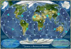 """Planetary grid of """"Ley Lines"""" and vortex anomalies such as: Bermuda Triangle, Easter Island, Devil's Triangle, Giza, etc"""