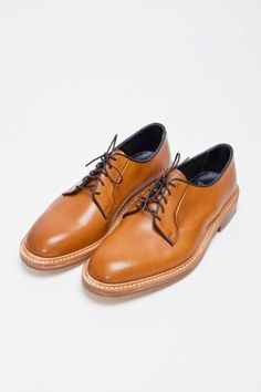 Tricker's for Très Bien, Burnished Derby Shoe, Amber