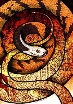 Malayan Slug Snake by Culpeo-Fox on DeviantArt Amphibians, Reptiles, Lizards, Anaconda Verde, Snake Wallpaper, Film Icon, Snake Art, Deviantart, Figure Drawing
