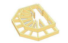 Här beskriver Martin Timell hur du snickrar en entrétrapp me Deck Design, Landscape Design, Patio Stairs, Deck Steps, Deck Pictures, Front Deck, Front Porch, Classic Garden, House Deck