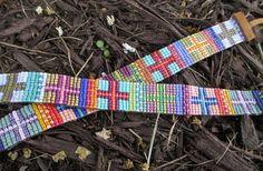 Multi+color+beaded+sideways+cross+leather+bracelet++by+slashKnots