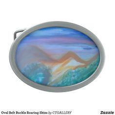 "Oval Belt Buckle Roaring Skies. You can buy this Belt Buckle at the wesite below"" https://wwwzazzle.com/062lw"