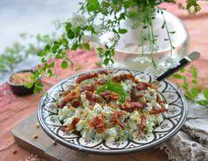 Verdens beste brokkolisalat - Franciskas Vakre Verden Pasta Salad, Potato Salad, Cabbage, Bacon, Food And Drink, Potatoes, Vegetables, Ethnic Recipes, Dressing
