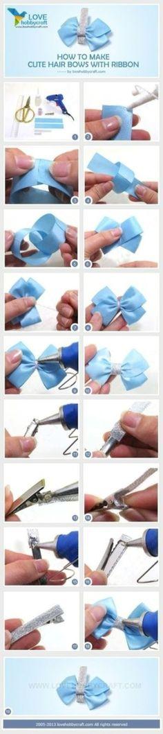 Diy bowknot hair clip