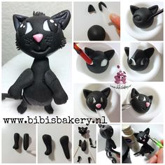Are you having a wonderful weekend? I do hope so. Here is my little black cat tutorial. Blacky is for Maurits' birthday cake. I hope you´ll like this little furry friend  xxx Bibi