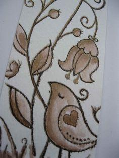 Woodware Garden Birdie Stamp