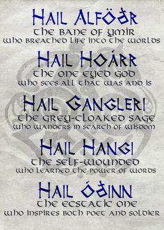 ~ Prayer to Odin ~
