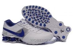 wholesale dealer 45c54 6102a Find Men s Nike Shox OZ Shoes White Silver Dark Blue Lastest online or in  Pumacreeper. Shop Top Brands and the latest styles Men s Nike Shox OZ Shoes  ...