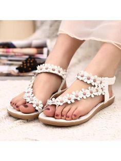 0ef161002b3 Casual White Solid PU Flats Womens Fashion Stores