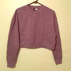 Grey crop sweatshirt Never worn, dark grey color BDG Tops Sweatshirts & Hoodies