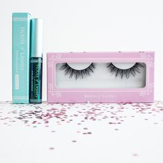 ❤ When two things are meant to be together, our #FeatheretteLashes and #HOLLashAdhesive included ❤  #Houseoflashes #lashgamestrong #lashesfordays #lashadhesive #falselashes