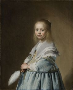 Portrait of a girl in blue, Johannes Cornelisz. Verspronck, 1641