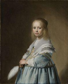 Portret van een meisje in het blauw, Johannes Cornelisz. Verspronck, 1641. Rijksmuseum, Amsterdam.
