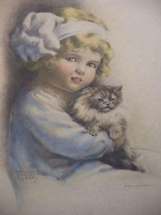 "Bessie Pease Gutmann, Illustrator, ""Tabby"", circa 1914."