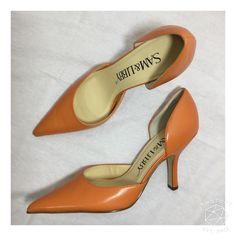 HOST PICK!!! NWOT stunning Sam&Libby d'orsay pumps Never worn genuine leather orange Sam & Libby d'orsay pumps size 7.5. No box. Sam & Libby Shoes Heels