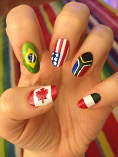 Twitter / EdgeHarriet: Olympic flag nails! ...