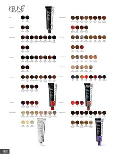 Keune So Pure Color Shade Chart. | Hair | Hair, Hair ...