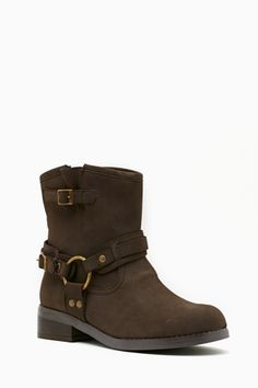Sleater Moto Boot - Brown $130