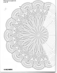 Use this pattern to make a Shaw, crochet on!use sports weight yarn or baby yarn. crochet doily by jest z 3 Poisk This Pin was discovered by Joa jacket, vest, or shawl Motif Mandala Crochet, Crochet Doily Diagram, Crochet Circles, Crochet Doily Patterns, Crochet Round, Crochet Chart, Thread Crochet, Filet Crochet, Irish Crochet