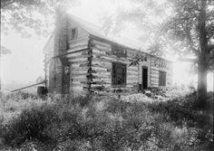 the cabin Ulysses Grant built, taken about 1891