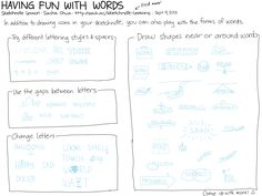20130909 Sketchnote Lessons - Playing With Words