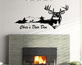 Deer Buck Animal Rustic Cabin Lodge Mountains Hunting Vinyl Wall Art Sticker Decal 2 by stickerchef on Etsy, $29.95 USD
