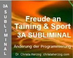 Freude an Training und Sport Subliminal Training, Ads, Sport, Joy, Deutsch, Deporte, Sports, Education, Exercise