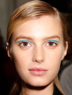 Floating liner at Michael Kors Spring 2013. #nyfw. by MUA Dick Page