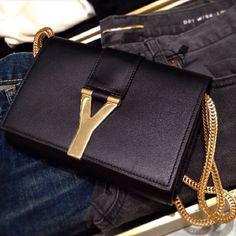 Yves Saint Laurent clutch.