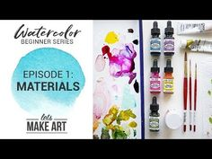Welcome to beginner series for Let's Make Art! In this series we go over the basics and this first episode is starting with the materials you will use. Watercolor Beginner, Watercolor Art Diy, Watercolor Projects, Watercolour Tutorials, Watercolor Techniques, Painting Techniques, Let's Make Art, Brush Drawing, Photoshop