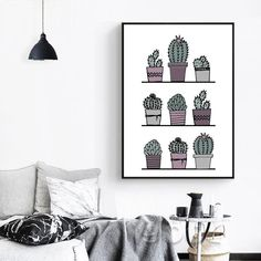 """We specialize in high quality wall art, own this amazing """"Imperial Plague Thorn"""" cactus canvas spray painting today it is the perfect piece to add to your art collection for your home."""