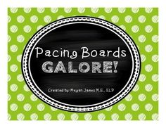 FREE pack of 12 fun and colorful pacing boards from Teachers Pay Teachers. Great for slowing down speech, breaking down syllables, including final consonants, and increasing utterance length. #TpT #speechtherapy #SLP