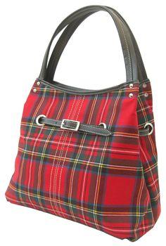 Tartan Fabric, Tartan Plaid, Tote Handbags, Purses And Handbags, Ladies Handbags, Mode Tartan, Tartan Clothing, Style Anglais, Tweed