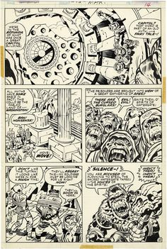 "Kamandi, The Last Boy on Earth, Issue 15, Page 12    You'll love reading, here , about the  ""Spirits of Watergate"" ~ Some cool perspective Art by Jack Kirby."