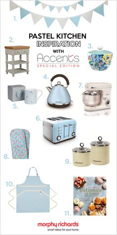 Bring your kitchen to life with the Azure kettle and toaster from the Accents Special Edition collection! In gorgeous pastel blue they're perfect for bringing a touch of classic style to your kitchen. Shop now at www.morphyrichards.co.uk #byktl