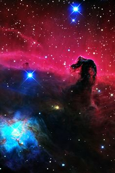 Horsehead Nebula // Not necessarily a place we can go, but God sure does make beautiful things.