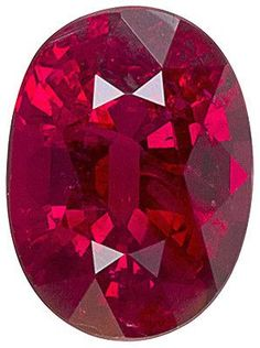 Genuine Ruby Red Loose Gemstone, Oval Cut, 7.05 x 5.17 mm, 1.1 Carats at BitCoin Gems