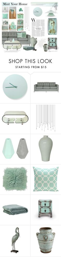 """""""Mint Your Home"""" by deeyanago ❤ liked on Polyvore featuring interior, interiors, interior design, home, home decor, interior decorating, Menu, Gus* Modern, Korridor and Flamant"""