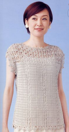 • Pattern: Japanese Crochet Lace Blouse Top Sleeveless Pattern - #3252-04    • Please Note: All my crochet knitting patterns are in Japanese,