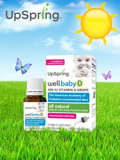 Like pediatricians recommend, add Vitamin D infant drops to your 0-12 month old checklist. We, of course, are partial to the UpSpring all-natural Wellbaby D vitamin D drops.