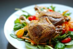 Thai-Inspired Crispy Duck & Arugula Salad | Award-Winning Paleo Recipes | Nom Nom Paleo®