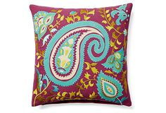 Arcadia 16x16 Embroidered Pillow, Multi on OneKingsLane.com    Love this pillow. Great colors!