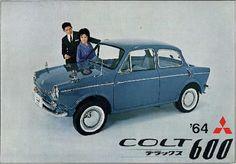 Japanese Bubble Car Mitsubishi Colt 600 1964 #classiccar Mitsubishi Colt, Mitsubishi Motors, American Graffiti, Kei Car, Microcar, Automobile, Car Brochure, Japan Cars, Car Posters