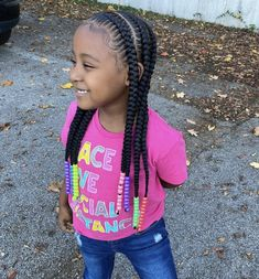 The smile on your face when you love your new hairstyle😍⁣ ⁣ Loving these braids on this little beauty styled by @dubydarie_ 🥰 Black Baby Hairstyles, Kid Hairstyles, Protective Hairstyles, Braided Hairstyles, Easy Braid Styles, Braids For Kids, New Hair, Little Girls, Fashion Beauty