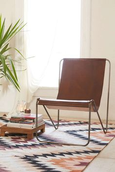 Maddox Leather Sling Chair - Urban Outfitters