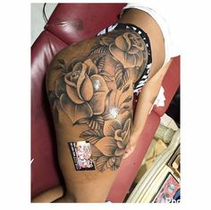 Image result for tattoos on thigh #beautytatoos
