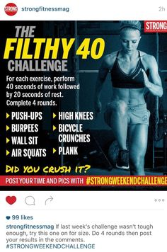 Arbitrarily choosing half an hour in the week for HIIT workout is a huge error. The sessions require to be timed effectively. Having a session right after you eat or simply before bed is a bad idea. Wod Workout, Tabata Workouts, Workout Challenge, Hiit, At Home Workouts, Workout Routines, Workout Plans, Hotel Workout, Wods Crossfit