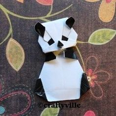 How to fold an origami panda instructions. Easy, intermediate and advanced origami panda folding instructions. Learn how to make a paper panda...