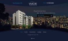 HotSite do empreendimento Wide, da Famcorp.