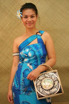 Langi's Island Styles — Samoan Puletasi Pacific Styles Designs one shoulder for women for sale at Langi's Island Styles